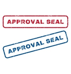 Approval seal rubber stamps vector