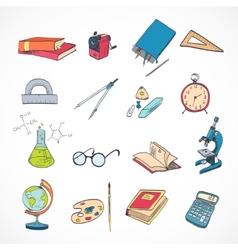 Education icon doodle color vector image