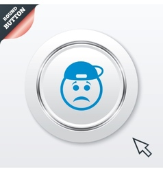Sad rapper face sign icon sadness symbol vector