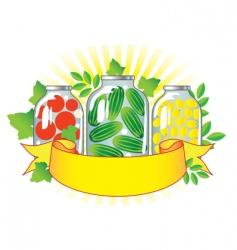 Canned fruits and vegetables i vector