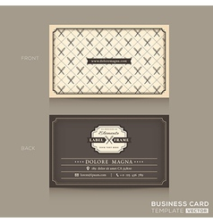 Classic Business card Design Template vector image
