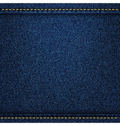 Denim jeans texture with strings and seams vector