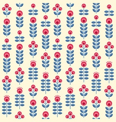 Scandinavian flowers seamless pattern vector