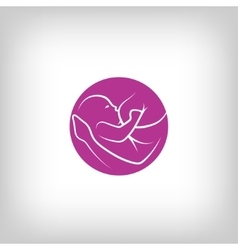 Breast feeding sign vector