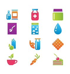 Icon set gastronomy vector