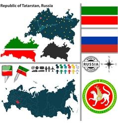Map of Republic of Tatarstan vector image