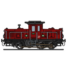 Old diesel locomotive vector