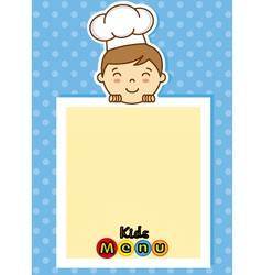 boy chef vector image