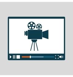 Movie design cinema concept film vector