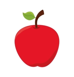 Apple fruit food icon graphic vector