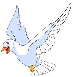 beautiful and happy cartoon pigeon vector image