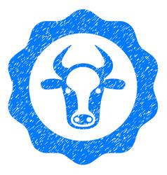 Beef certificate icon grunge watermark vector