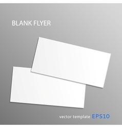 Blank flyer vector
