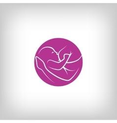 Breast feeding sign vector