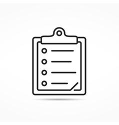 Clipboard Line Icon vector image vector image