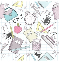 Cute school seamless abstract pattern vector image