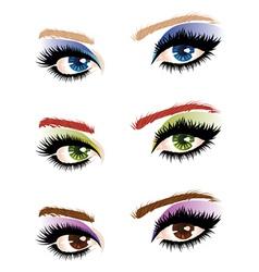 Eye make up vector
