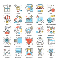 Flat color line icons 12 vector