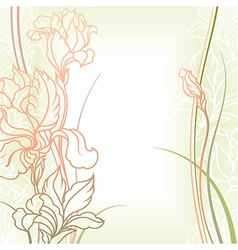 flowers with leafs vector image vector image