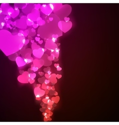 Flying hearts Valentines day or Wedding EPS 8 vector image vector image