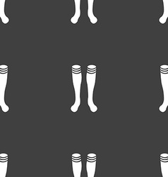 Football gaites icon sign Seamless pattern on a vector image