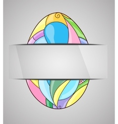 Greeting card with colorful easter egg vector