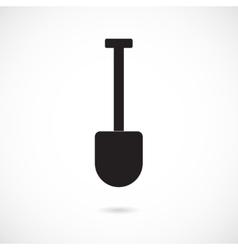 Grey Shovel Icon vector image vector image