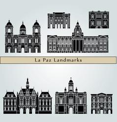 la paz landmarks vector image vector image