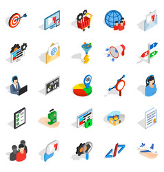 manpower icons set isometric style vector image vector image