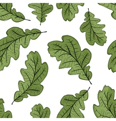 Oak leaf seamless pattern for your design vector image