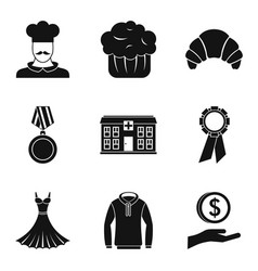 Offertory icons set simple style vector