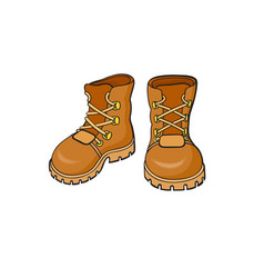 pop art style boots sticker vector image vector image