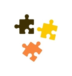 Puzzle icon in flat style vector image vector image