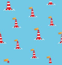 red sea buoy seamless pattern vector image vector image