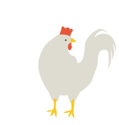 Rooster turned his head vector