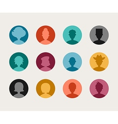 Set of Colorful Flat Design People Avatar Icon Set vector image vector image