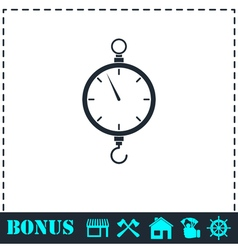 Spring scale icon flat vector