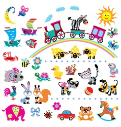 Simple children pictures vector