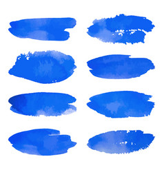 Watercolor set of blue banners spots vector