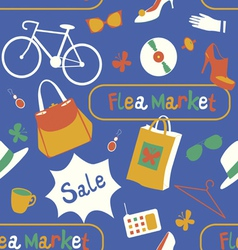 Flea market seamless pattern vector
