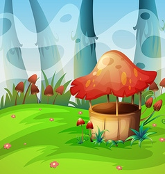 Mushroom will in the field vector