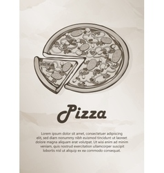 Pizza vintage menu label logo frame brochures vector