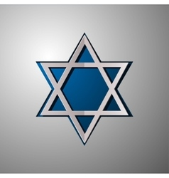Star of David Israel Star of David cut vector image