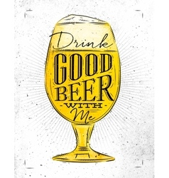 Poster good beer vector image