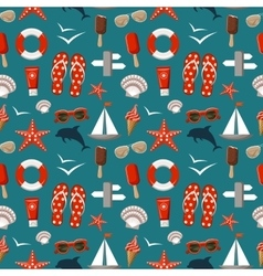 Summer seamless sea patterns vector