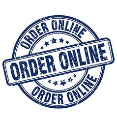 Order online blue grunge round vintage rubber vector