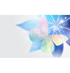 Abstract bright background with flower and vector image vector image