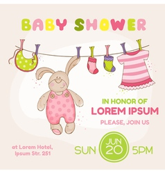 Baby Bunny Shower Card vector image