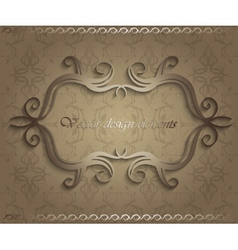 beautiful vintage frame vector image vector image
