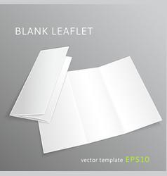 Blank leaflet vector